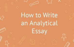 How to write an analyzing paper